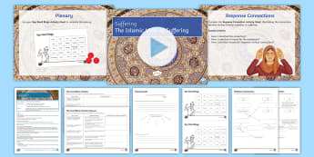 Islam and Suffering Lesson Pack - Suffering, God, Pillars of Islam, Fasting, prayer, charity, faith, hope, compassion, love.