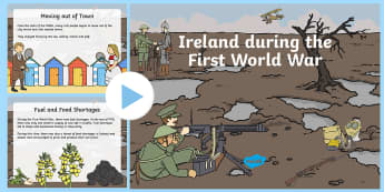Ireland During the First World War  PowerPoint-Irish - Ireland During World War I, ireland, world war 1, first world war, war, history, army, soldiers, fig