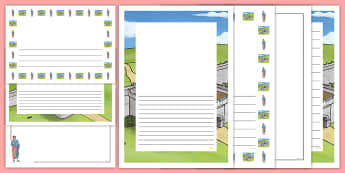 Roman Emperor Hadrian Page Border Pack - Ancient Romans Full Page Borders (Landscape) - page border, border, frame, writing frame, writing te