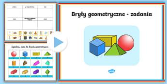 Prezentacja PowerPoint Bryły geometryczne - prezentacja, PowerPoint, bryły, obrotowe, geometryczne, kula, walec, stożek, właściwości, geome