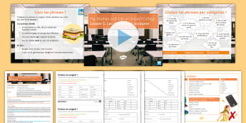 My Studies and Life at School and College Lesson 5: School Rules Lesson Pack French - education, culture, GCSE, units of work, relative pronouns,French