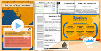 Planit Y5 SPaG Lesson Pack: Brackets - GPS, spelling, grammar, embedded clauses