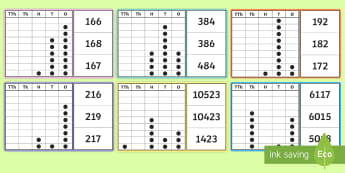KS2 Place Value Peg Board Activity - number, 5 digit number, 4 digit number, 3 digit number, 2 digit number, match image to number, reaso
