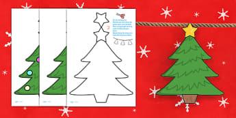 Christmas Tree Bunting - christmas, christmas tree, bunting