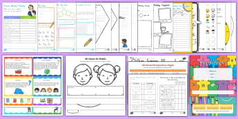 New Zealand First Week of School Resource Pack - New Zealand Back to School, new term, new year, all about me, transition, selfie writing, new class