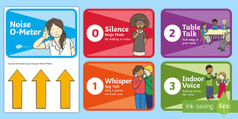 Noise O-Meter Display Posters - Signs and Labels, behaviour management, classroom organisation, noise, noise control