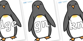 Silent Letters on Penguins - Silent Letters, silent letter, letter blend, consonant, consonants, digraph, trigraph, A-Z letters, literacy, alphabet, letters, alternative sounds