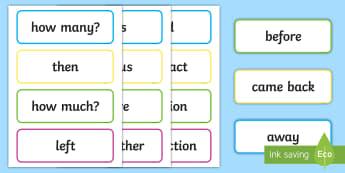 Problem Solving Word Cards - vocabulary, word problems, numeracy, flashcards, altogether,Irish