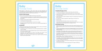 Baby Massage Guide - Baby, massage, newborn, baby massage, guide