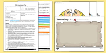 EYFS Find The Treasure Adult Input Plan and Resource Pack - Pirates, counting, counting actions, counts steps, maps, treasure, maths, mathematics