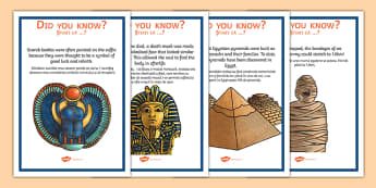 Ancient Egypt Fun Facts Posters Romanian Translation - romanian, egypt, egypt facts, history