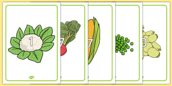 Numbers 0-30 on Vegetables - numbers, 0-30, vegetables, food, healthy