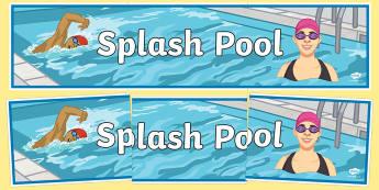Splash Pool Secondary Display Banner