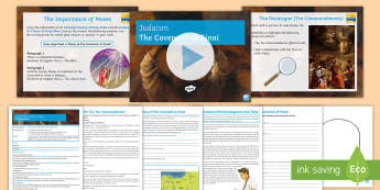 Judaism: The Covenant at Sinai Lesson Pack - beliefs, teaching, Judaism, KS4, GCSE, Moses, Ten Commandments, Mt Sinai