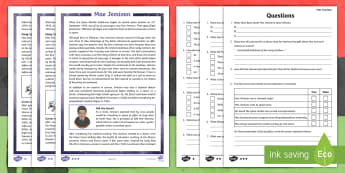 KS2 Black History Month Mae Jemison Differentiated Reading Comprehension Activity - Astronaut, NASA, Women, Science, Space