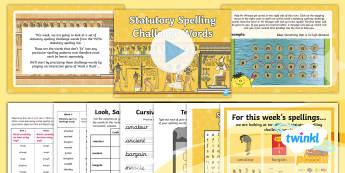 PlanIt Spelling Year 5 Term 3A W6: Statutory Spelling Challenge Words Spelling Pack - Spellings Year 5, spellings, spell, statutory words, statutory spelling words, Y5 spelling words, pa