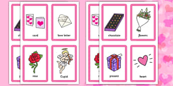 Valentine's Day Pairs Matching Game -  ESL Valentine's Day Vocabulary