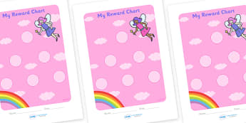 Fairy Sticker Reward Chart (30mm) - Fairy Reward Chart (30mm), Fairy, reward chart, chart, reward, 30mm, 30 mm, stickers, twinkl stickers, award, certificate, well done, behaviour management, behaviour, fairies, fantasy, wand, faerie, story