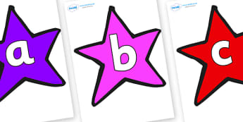 Phoneme Set on Stars (Multicolour) - Phoneme set, phonemes, phoneme, Letters and Sounds, DfES, display, Phase 1, Phase 2, Phase 3, Phase 5, Foundation, Literacy