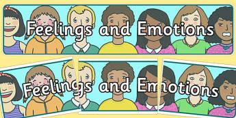 Banderole d'affichage : Les sentiments et les émotions - Anglais LV