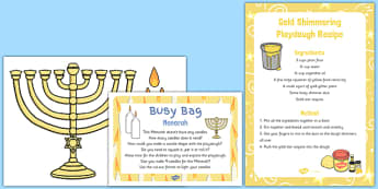 Menorah Busy Bag Prompt Card and Resource Pack - menorah, busy bag, prompt, card, pack