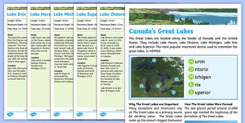 Canada's Great Lakes Fact File
