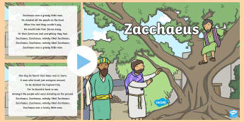 Zacchaeus Song PowerPoint - ROI - Hymns and Religious Songs, Music, Hymns, Communion, Confirmation, First Confession, Confession