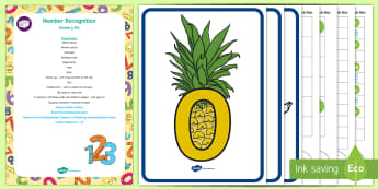 Number Recognition Sensory Bin and Resource Pack - maths, numeracy 1-10, numeral, counting, numbers, sensory play, tuff tray, tuff spot