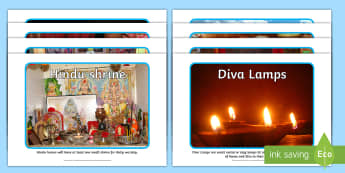 Hindu Artefacts Photo Pack - Hindu, Religion, murti, puja, mara, arti, garlands, rakhi, shrine