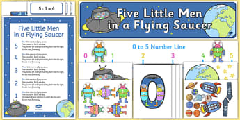 Five Little Men in a Flying Saucer Ready Made Display Pack - five little men, flying saucer, ready made, display pack
