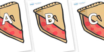 A-Z Alphabet on Cherry Pie to Support Teaching on The Very Hungry Caterpillar - A-Z, A4, display, Alphabet frieze, Display letters, Letter posters, A-Z letters, Alphabet flashcards
