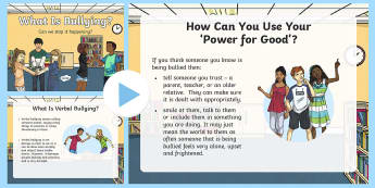 KS2 Anti-Bullying Week 'Power for Good'  PowerPoint