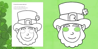 St. Patrick's Day Leprechaun Mask Craft - St. Patrick's Day, leprechaun, mask