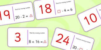 Find the Missing Number Domino Loop Cards - dominoes, games, math