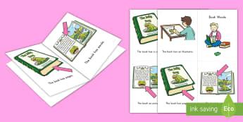 Book Words Emergent Reader - emergent reader, emergent readers, emergent reading books, emergent reading texts, sight word reader