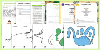 Dinosaur Theme Day Activity Pack - days in, family, parents, boredom busters, holidays