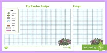 Garden Design Activity Sheet - EYFS Parks and Gardens, Garden, setting, draw, design, like, dislike, colour, worksheet