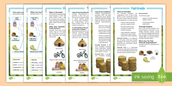 Fairtrade Differentiated Fact File Polish Translation - KS2, comprehension, reading, reading comprehension, reading activity, fairtrade, around the world, g