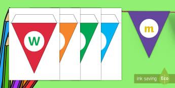 Welkom by Ons Klas Versierings vir die Klaskamer  - kleur, kleurvol, hang, letters, klaskamer, nuut, nuwe