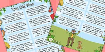 This Old Man Nursery Rhyme Poster - Posters, Displays, Display