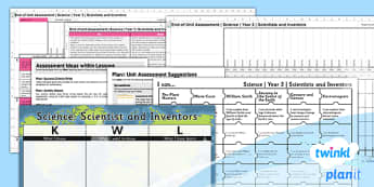Science: Scientists and Inventors Year 3 Unit Assessment Pack