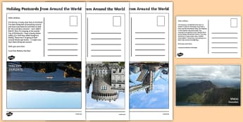 Examples Of Postcards KS1 - Holiday Postcards from Around the World