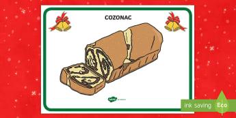 Cozonaci Planșă - cozonaci, cozonac, crăciun, sărbătoarea crăciunului, tradiții, obiceiuri, planșă, decor, Roma