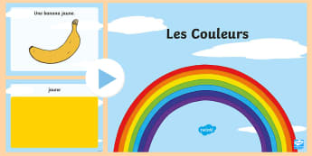 Colours PowerPoint - French  - French, colours, couleurs, les couleurs, ,Scottish
