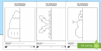 Winter-Themed Symmetry Activity Sheets English/Romanian - Winter Themed Symmetry Activity Sheets - winter, symmetry, worksheets, reflection, pattern, draw, EA