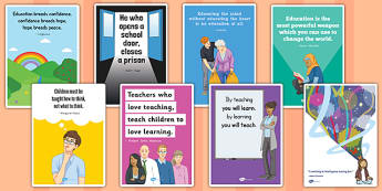 Educational Quotes Posters - educational, quotes, poster, display