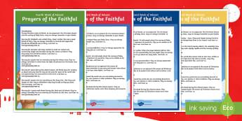Advent Prayers of the Faithful Print-Out - prayer assembly, advent, Christmas, prayers of the faithful, Roman Catholic, Ireland, ROI, mass,Iris