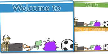Editable Classroom Welcome Door Signs (Design 2) - Classroom sign, welcome, welcome sign, door sign, class sign, KS1 sign,  Editable sign, class door sign