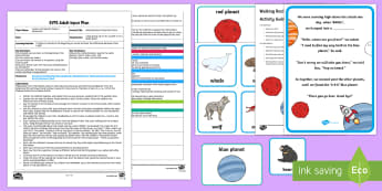 EYFS Walking Rocket Alliteration Story Adult Input Plan and Resource Pack - EYFS Phase 1 Aspect 5: Alliteration, letters and sounds, phonics, initial phoneme, beginning sound,