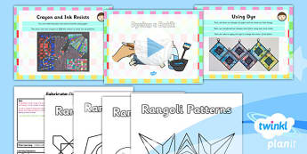 Art: Fabricate: Dyeing a Batik KS1 Lesson Pack 6